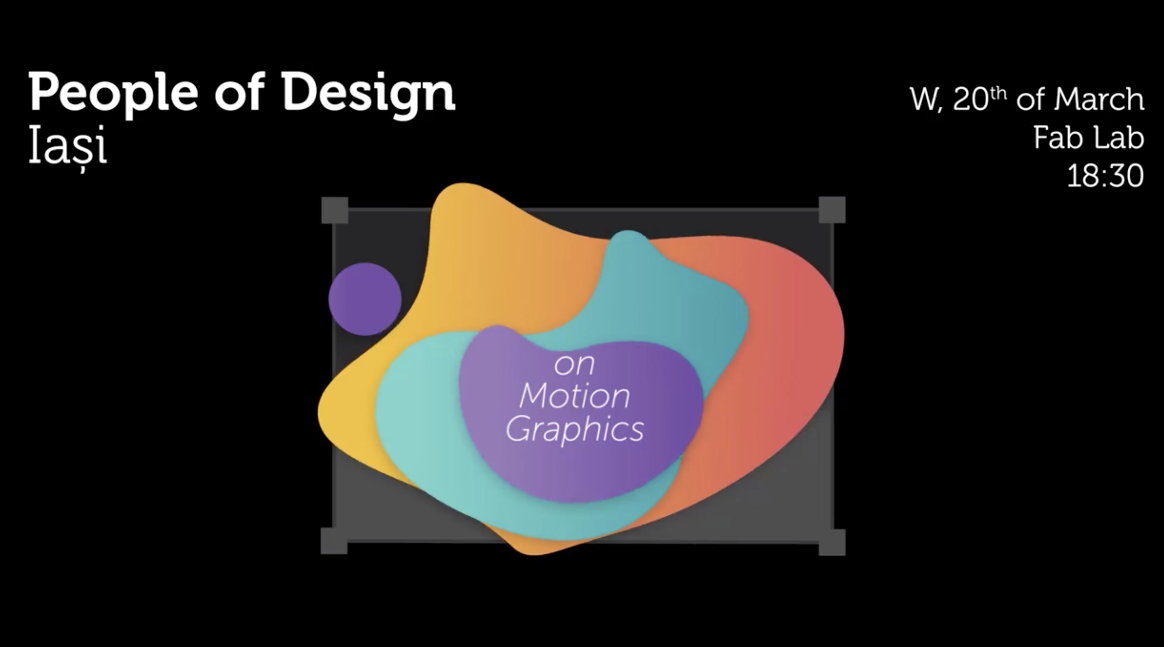 PoD de martie – on Motion Graphics
