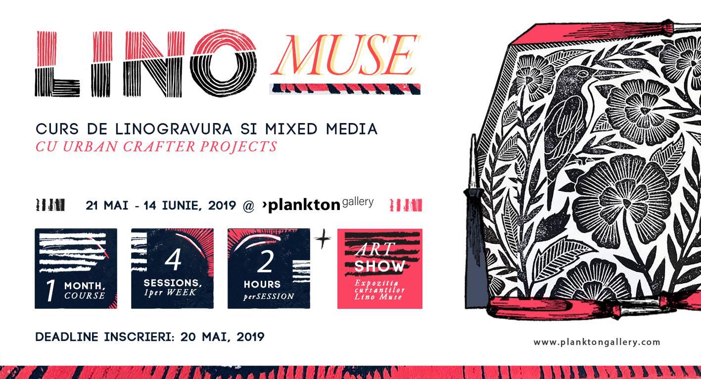 Lino Muse – Curs de linogravura si Mixed Media