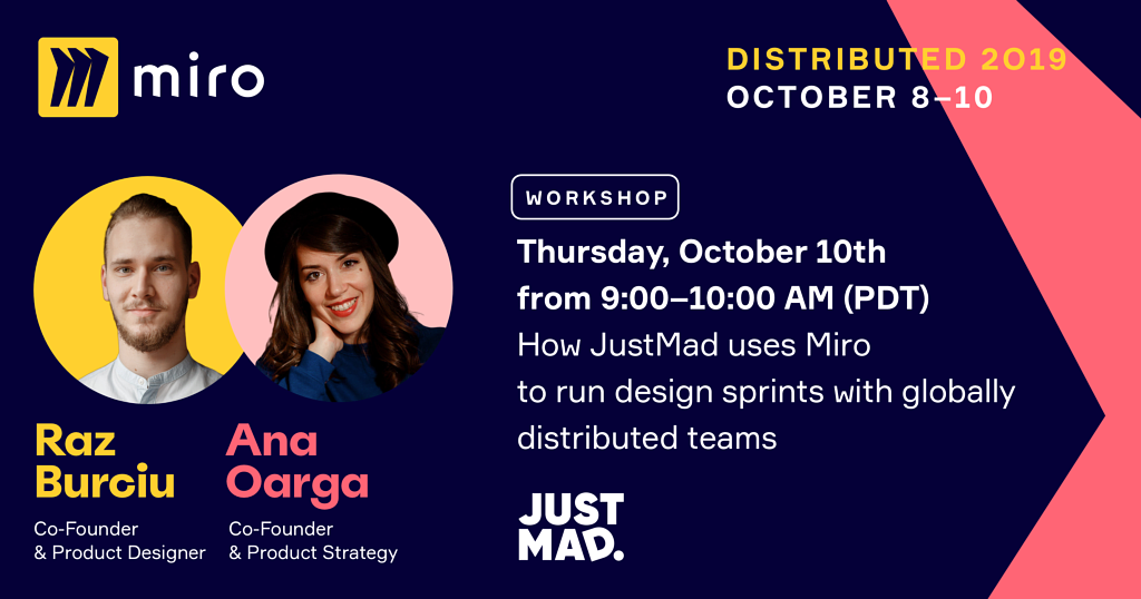 How JustMad uses Miro to run remote design sprints with globally distributed teams