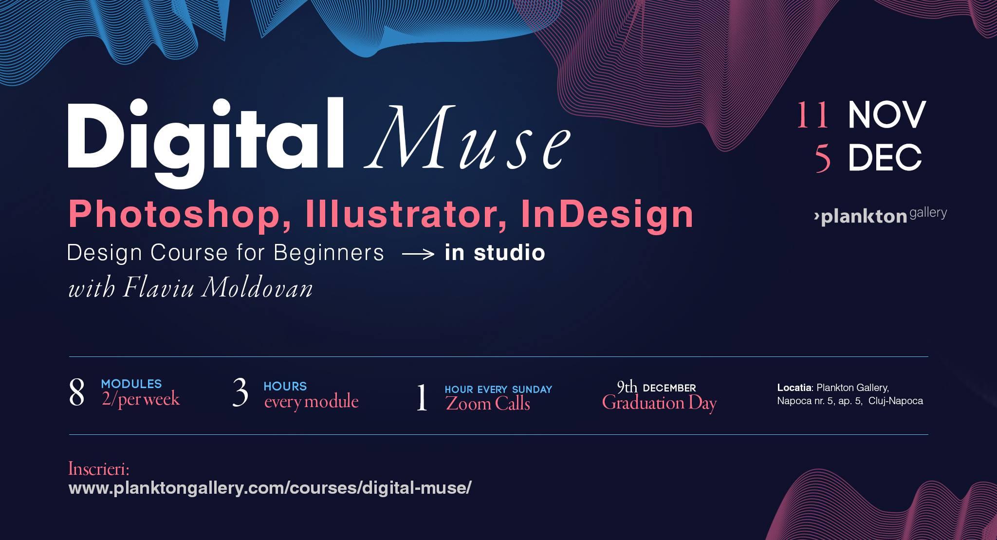 Digital Muse – Photoshop, Illustrator, InDesign – Design Course