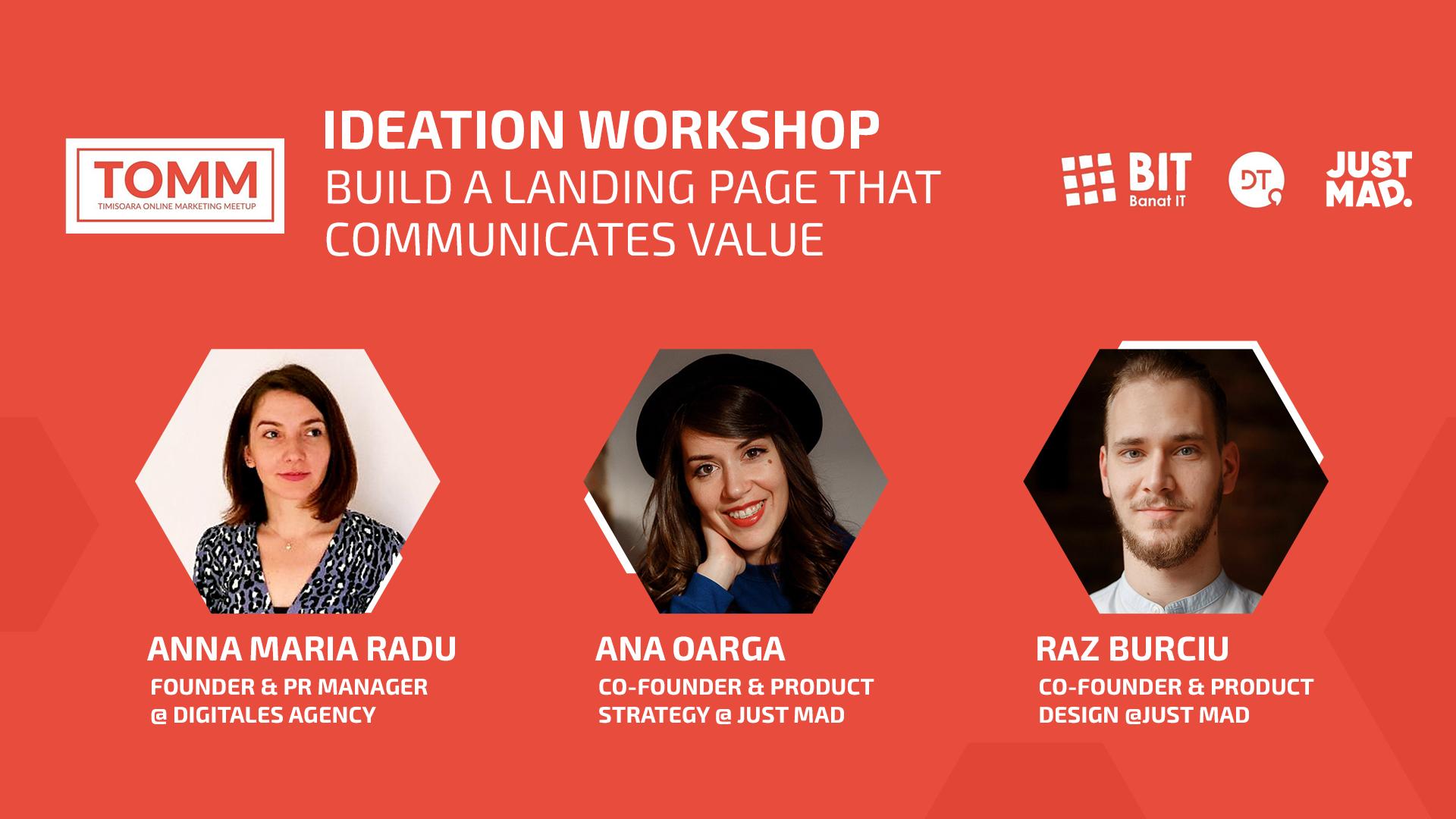 Ideation Workshop: Build a Landing Page that Communicates Value