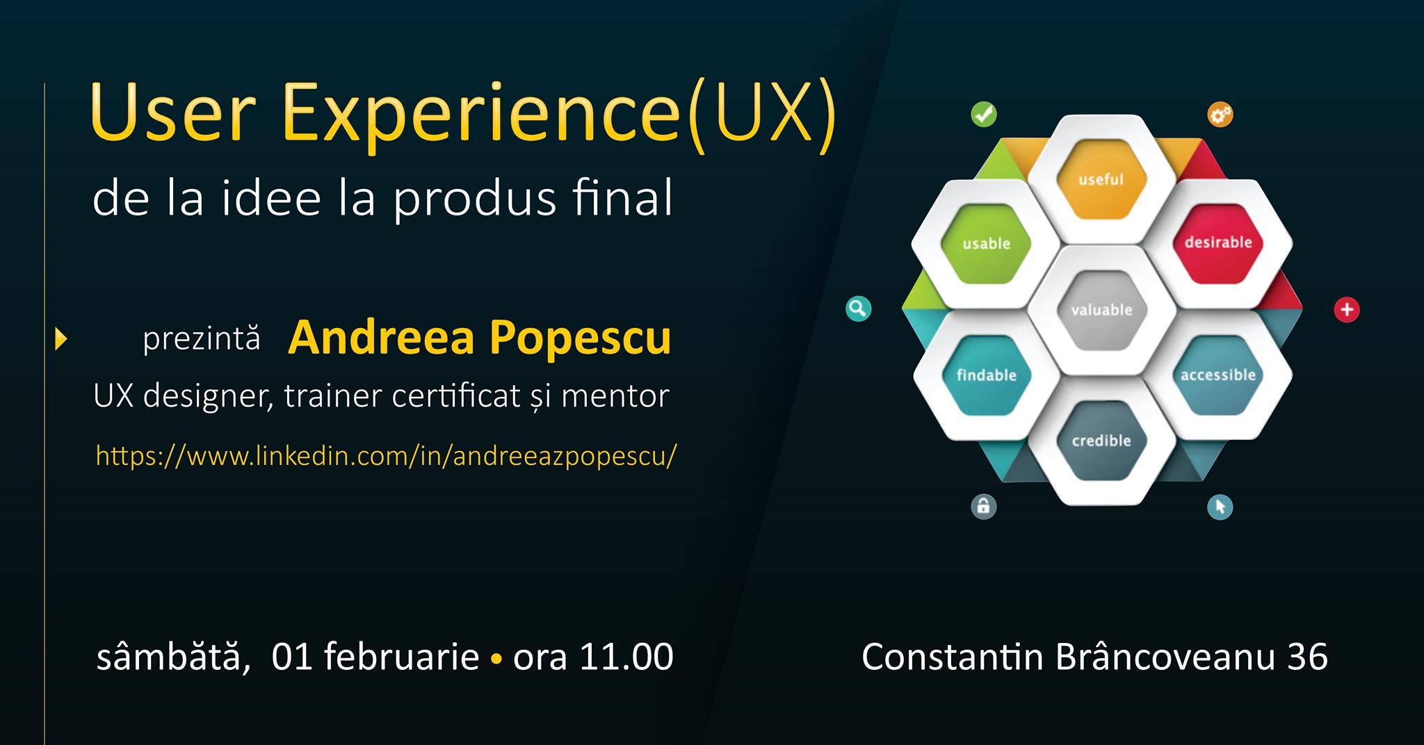 User Experience (UX): de la idee la produs final