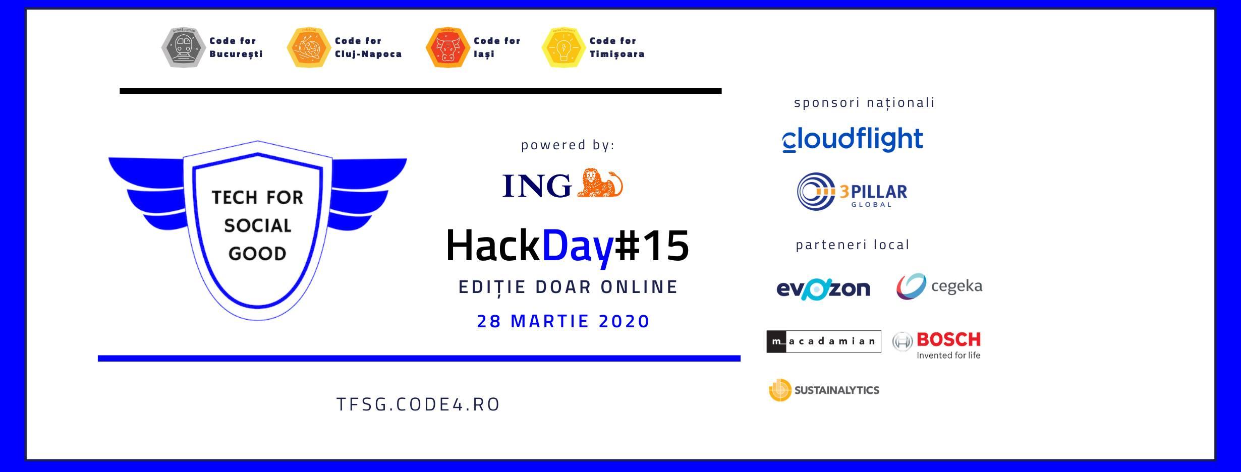 HackDay 15 – ediție online dedicată soluții anti efecte covid-19