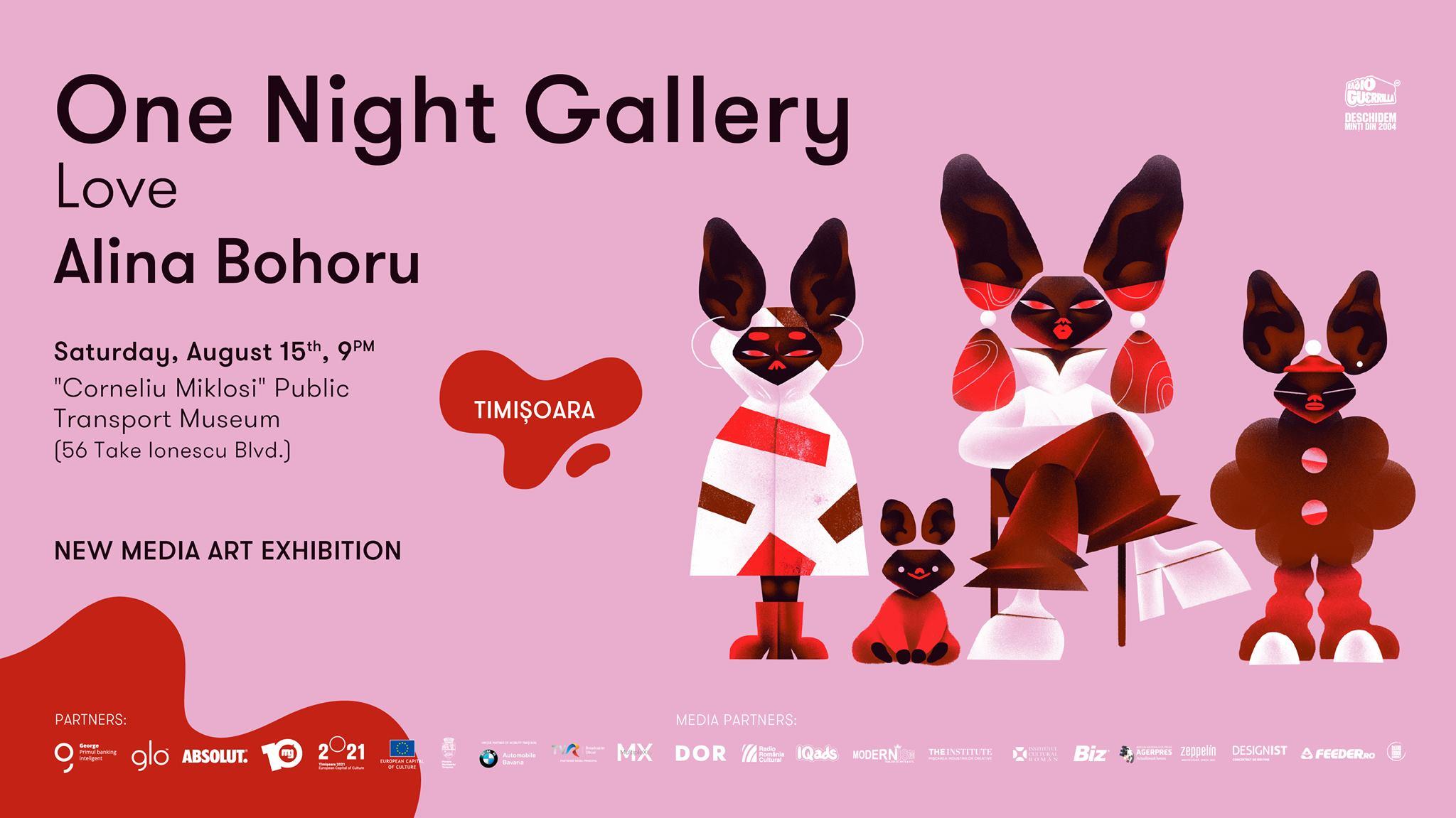 One Night Gallery Love Alina Bohoru in Timișoara