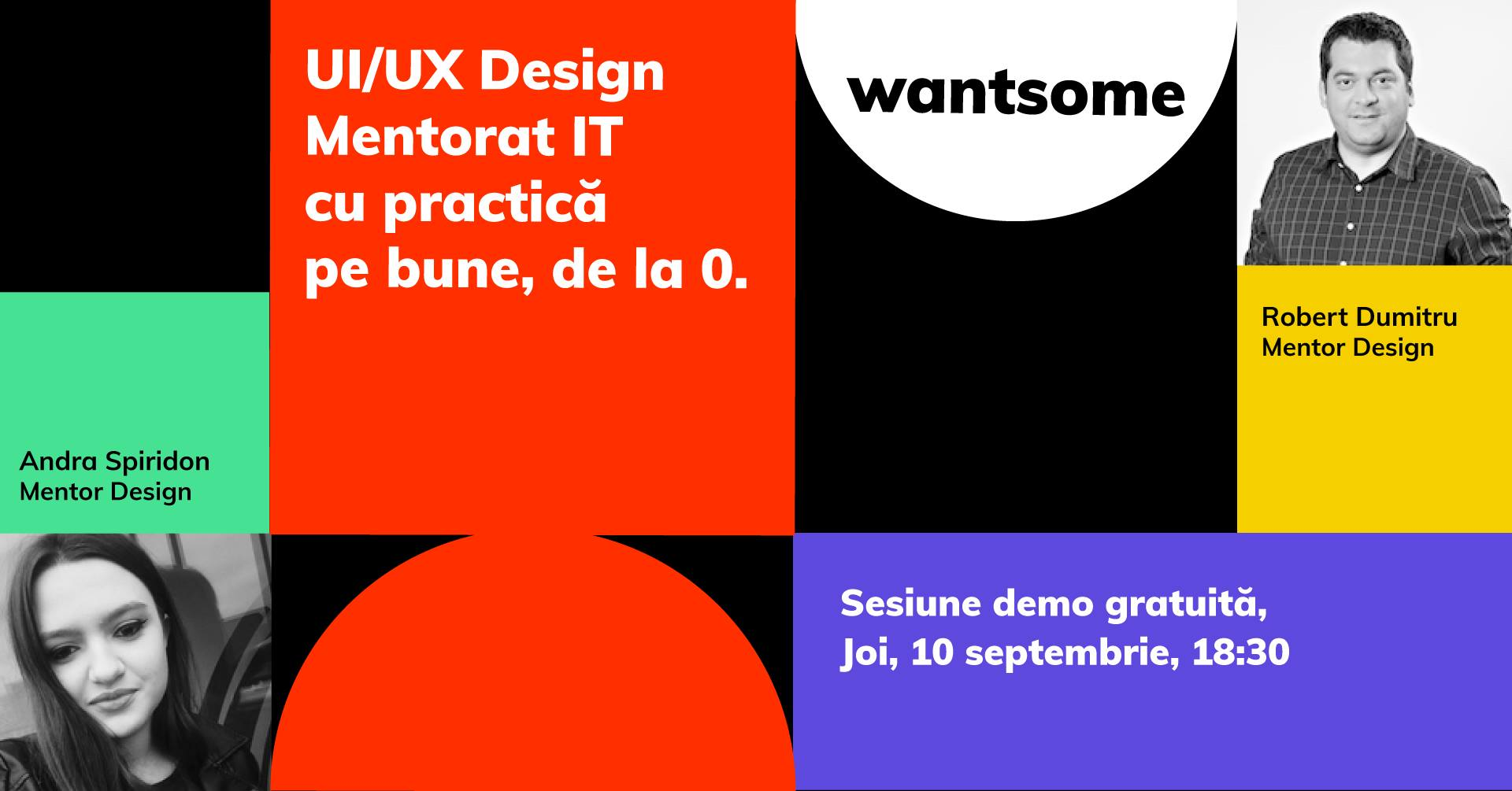 Sesiune online de prezentare a cursului de UI/UX Design