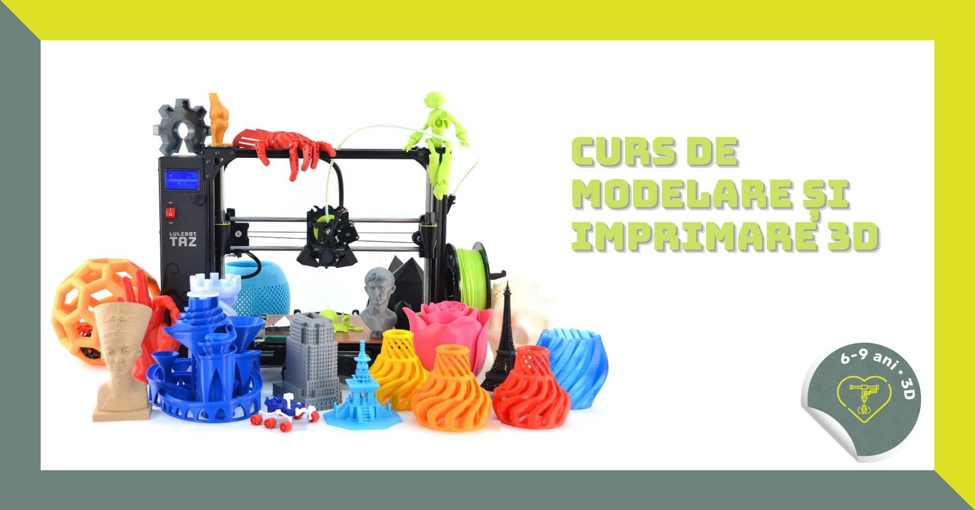 Modelare și imprimare 3D, 6-9 ani