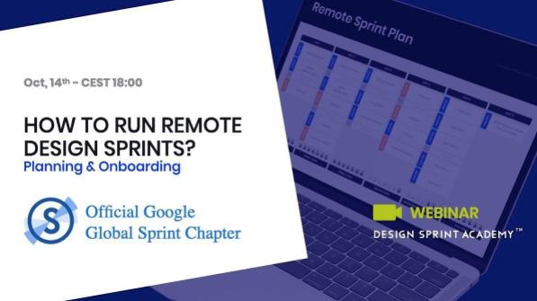 Remote Design Sprints: Planning and Onboarding (webinar)