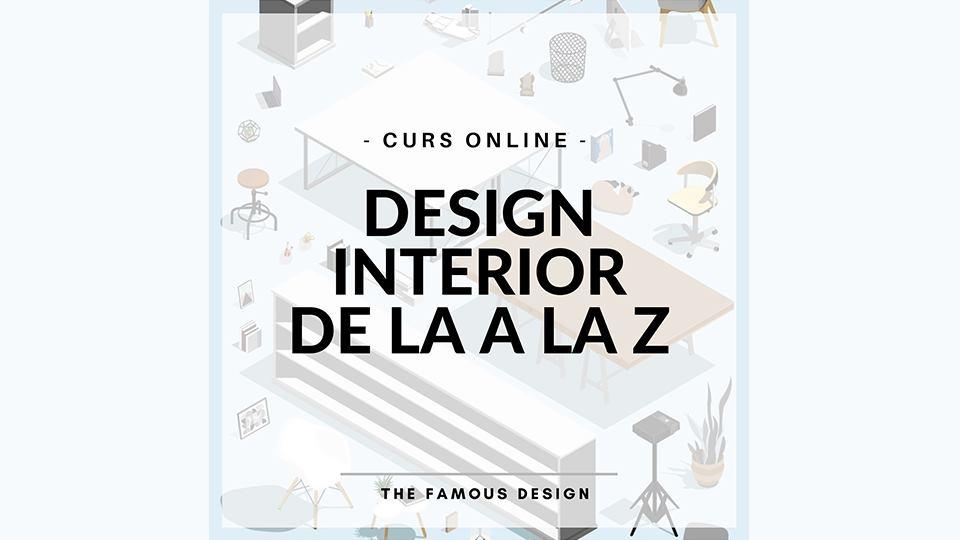 Curs online de design interior de la A la Z