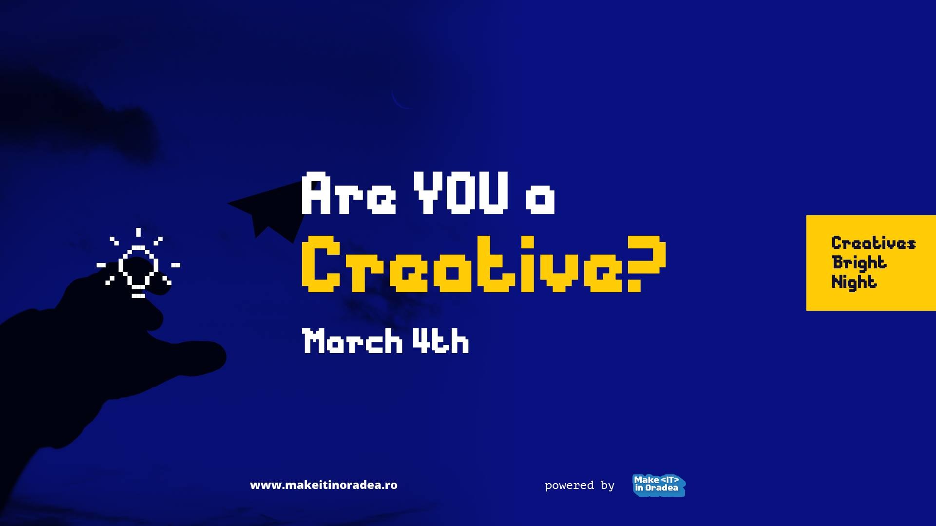 Virtual Bright Night #4 – idea pitching event for creatives