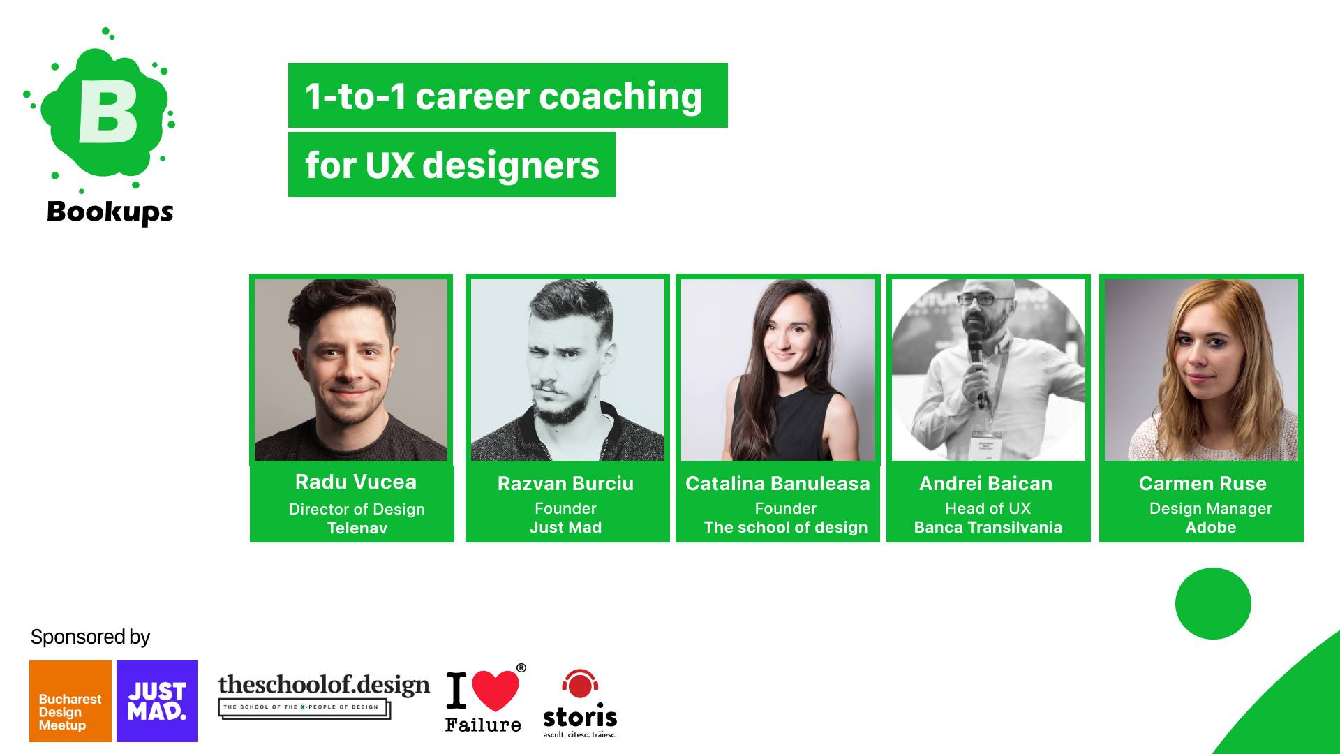 1-to-1 career coaching for UX designers