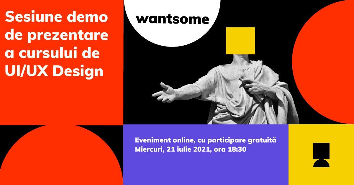Sesiune gratuită de prezentare a cursului de UI/UX Design