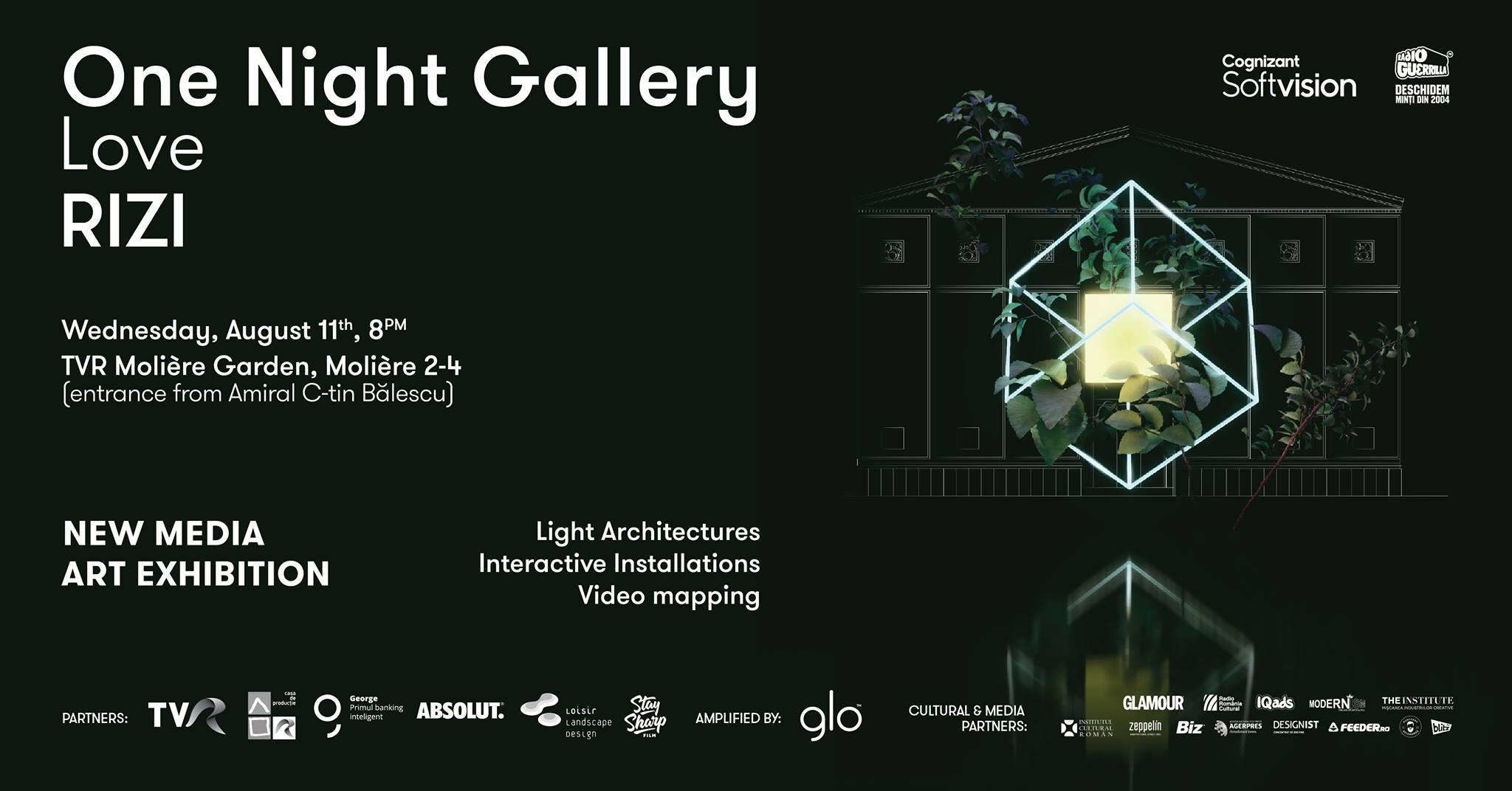 One Night Gallery Love RIZI @ TVR Molière Gardens | itinerant exhibition | Bucharest