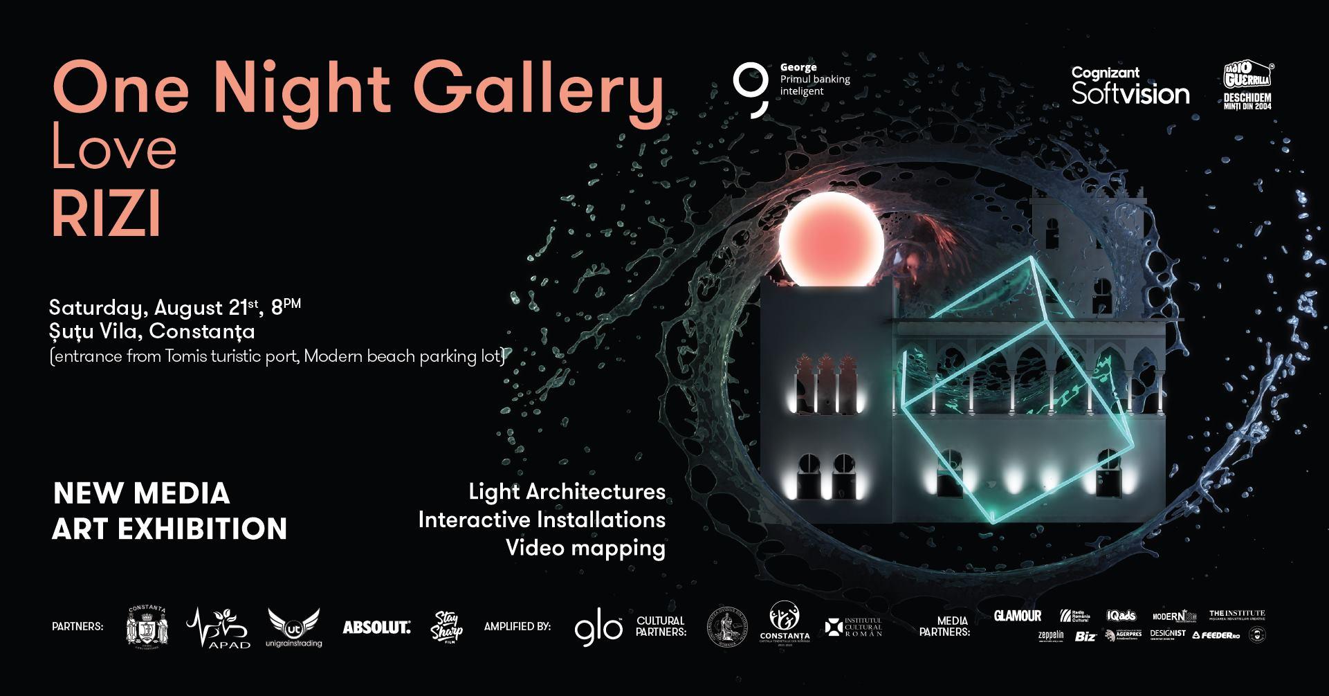 One Night Gallery Love RIZI @ Șuțu Vila   itinerant exhibition   Constanța